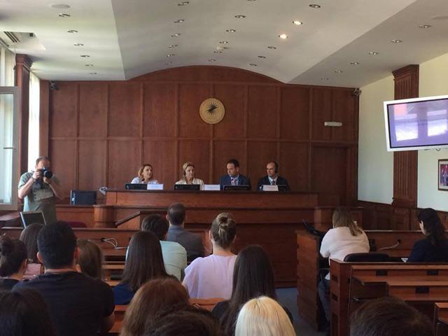 Nataliya Apostolova Urges Kosovo Law Students to Vote at a Forum Organized by BIRN Kosovo