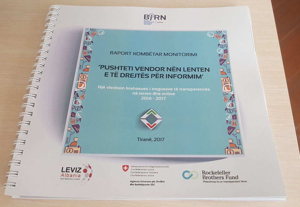 BIRN Albania Presents Report on Local Government Transparency