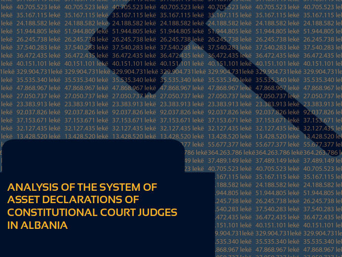 Report on asset declaration of Albanian Constitutional Court judges