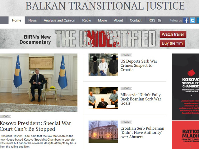 BIRN's Transitional Justice Programme Enters New Phase