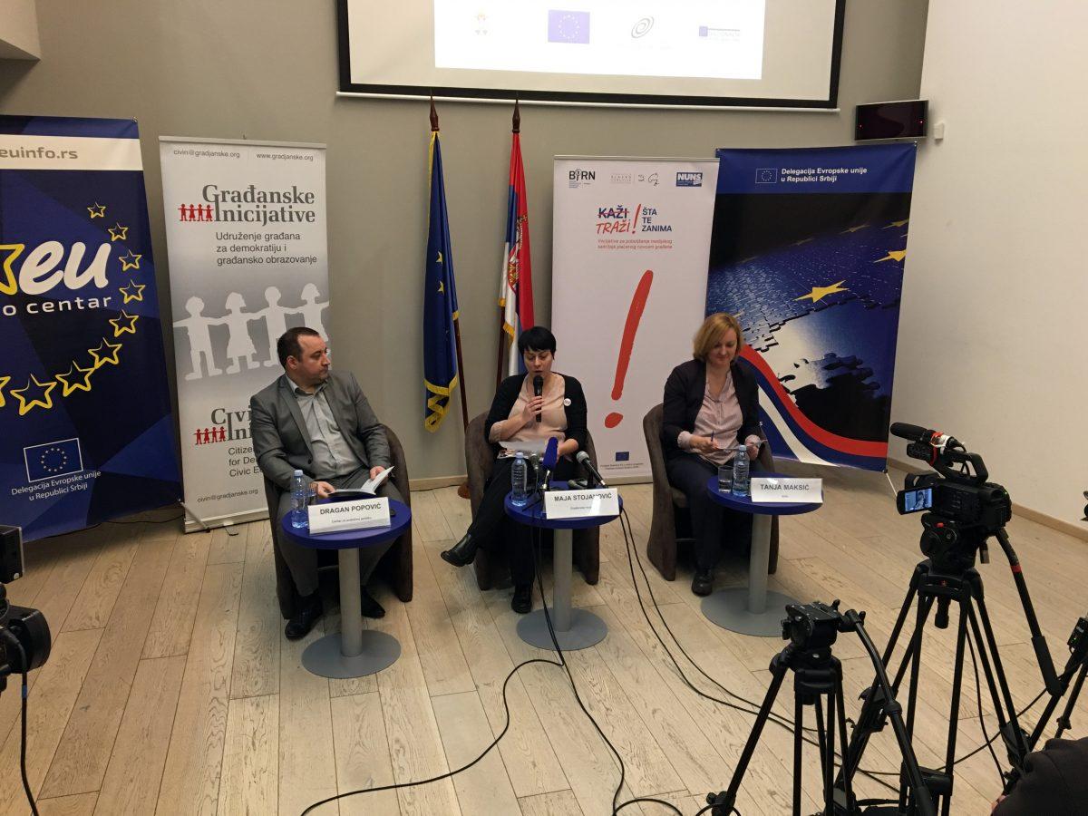 BIRN Report Says Media Freedom Declining in Serbia