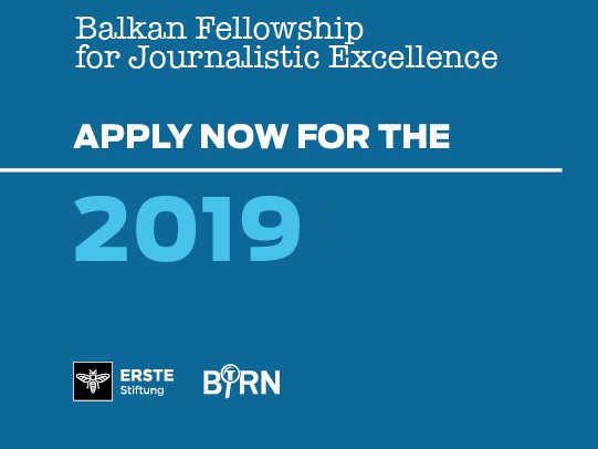 Applications Open for 2019 Balkan Fellowship for Journalistic Excellence