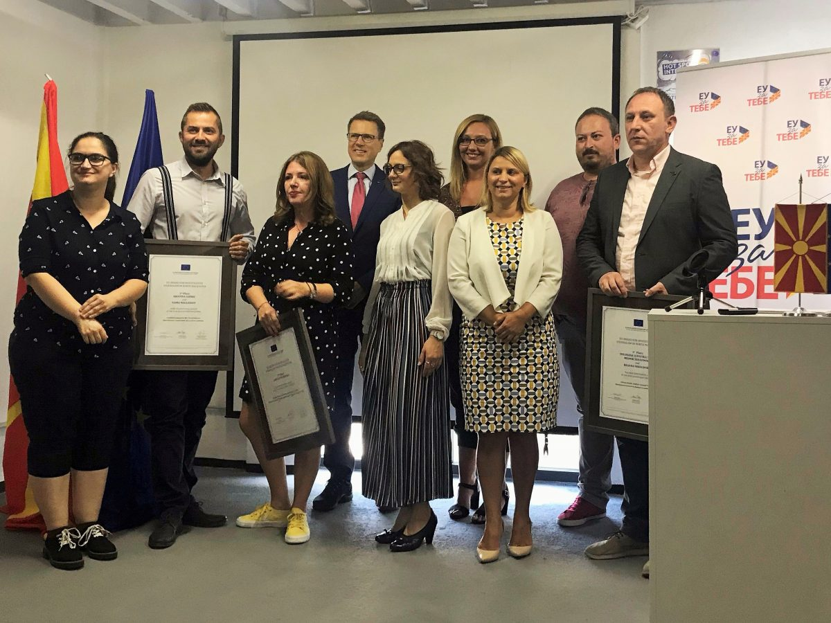 Winners of EU Awards in North Macedonia Announced