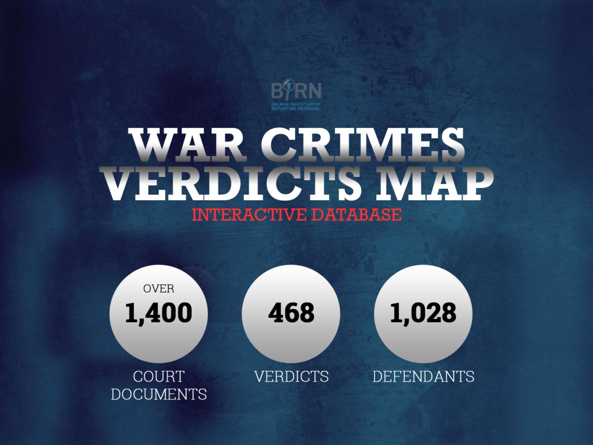 BIRN Launches Updated Map of Balkan War Crime Verdicts