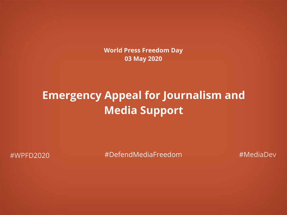 Emergency Appeal for Journalism and Media Support in Response to the Covid-19 Crisis