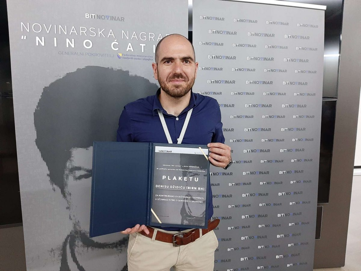 BIRN Bosnia and Herzegovina Director Given Srebrenica Reporting Award