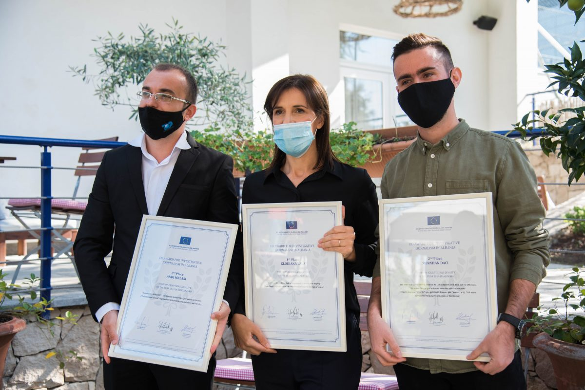 EU Investigative Awards Presented in Albania