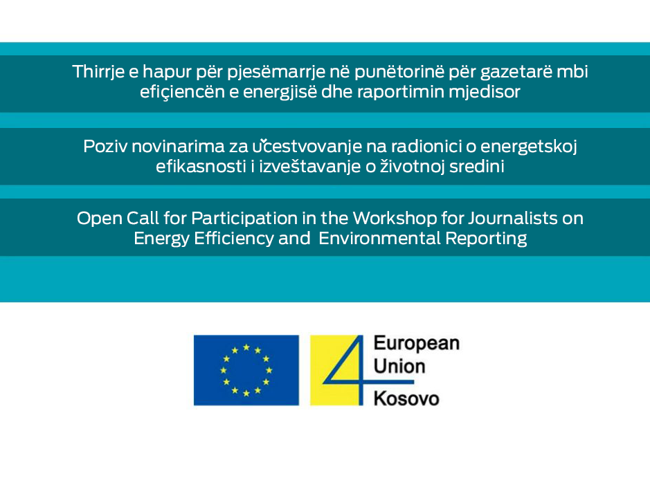Open Call for Energy Efficiency and Environmental Reporting Workshop
