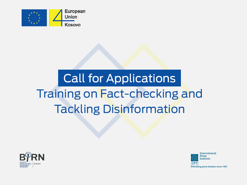BIRN and IPI Launch Call for Applications for the Second Two-Day Training Course on Fact-Checking and Tackling Disinformation