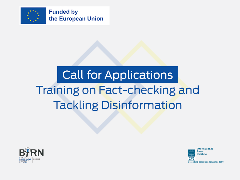 BIRN and IPI Launch Call for Applications for the Third Two-Day Training Course on Fact-Checking and Tackling Disinformation
