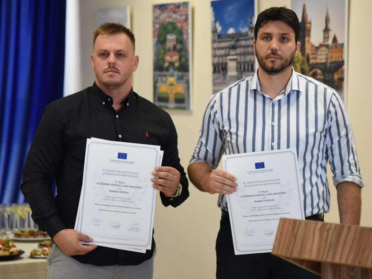 BIRN Investigation of Fugitive Montenegrin Ex-President's Son Wins Award