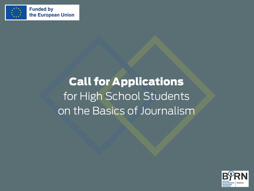 Call for Applications: Basic Journalism Training for High School Students