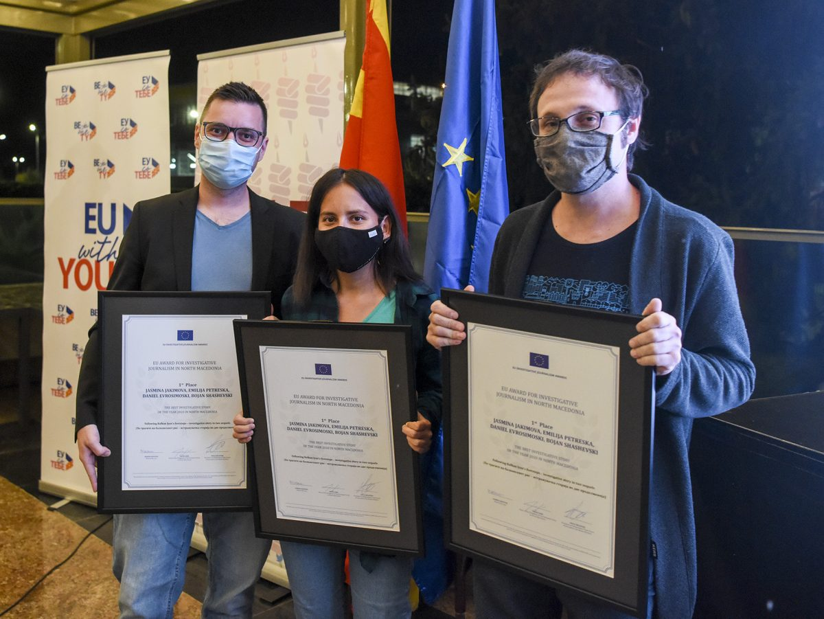 EU Awards Presented for Best Investigative Journalism in North Macedonia